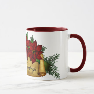 Seasons Greetings Holiday Mugs or Cups