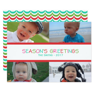 Season's Greetings Holiday Photo Card