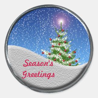 Season's Greetings Holiday Season Card Stickers
