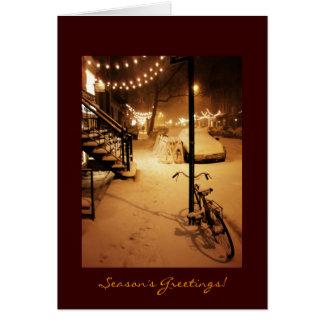 Season's Greetings - Holiday - Snowfall New York Greeting Card