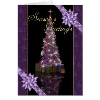 Season's Greetings - Holiday Tree And Lights Greeting Card