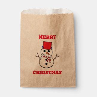 Season's Greetings Kraft Favor Bag Favour Bags