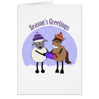 SEASON'S GREETINGS MIC MAC CARD