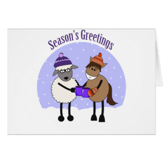 SEASON'S GREETINGS MIC MAC CARD
