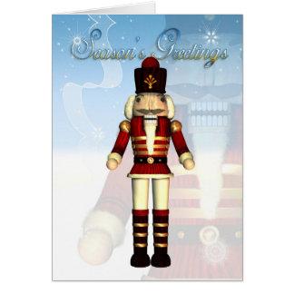Season's Greetings Nutcracker Soldier Card
