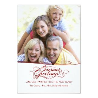 Season's Greetings Photo Holiday Card 13 Cm X 18 Cm Invitation Card
