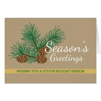 Season's Greetings, Pine Cones, Business Holiday Greeting Card