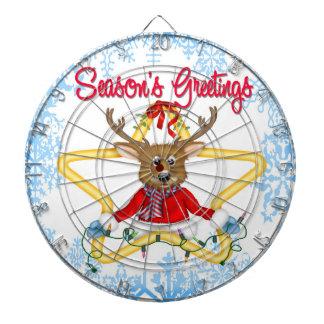 Season's Greetings Reindeer Dart Board