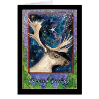 Season's Greetings Reindeer Holiday Card