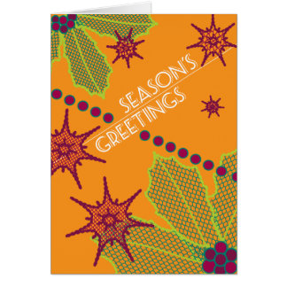 Season's Greetings Retro Holiday Card
