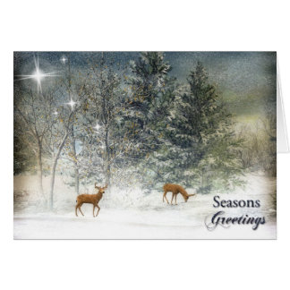 Seasons Greetings Scenic Holiday Card