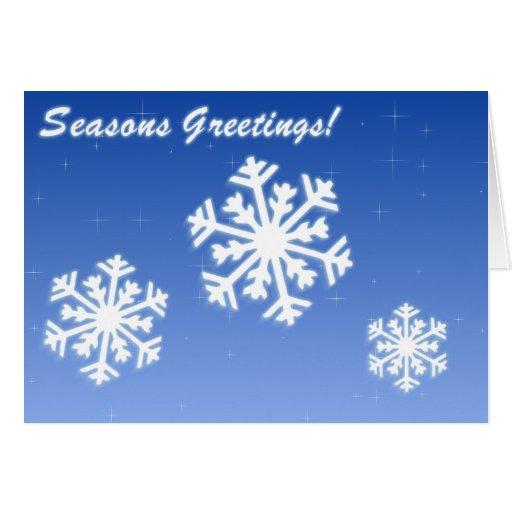 Seasons Greetings Snow Holiday Card