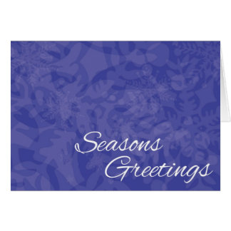 Seasons Greetings Snowflake Holiday Card