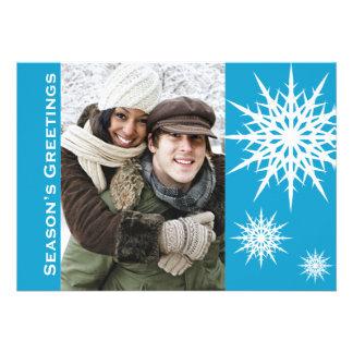 Season's Greetings Snowflake Holiday Flat Card