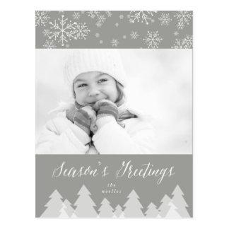 Season's Greetings Snowflakes Holiday Postcard
