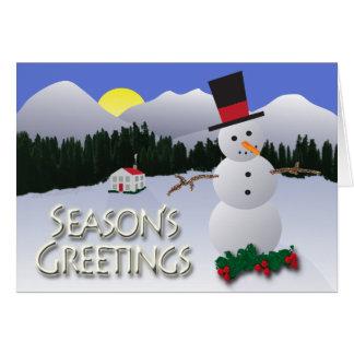 Season's Greetings Snowman Holiday Card