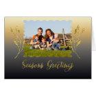Seasons Greetings Sparkle Gold Card