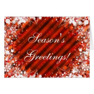 Season's Greetings Warm Holiday Merry Christmas Greeting Card