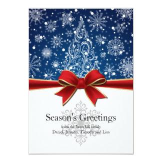 Season's Greetings Winter Holiday Flat Card 13 Cm X 18 Cm Invitation Card
