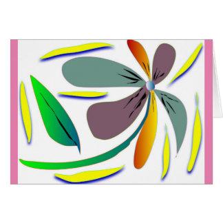 Season's Greetings with bold brush strokes Card