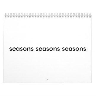 seasons seasons seasons calendars