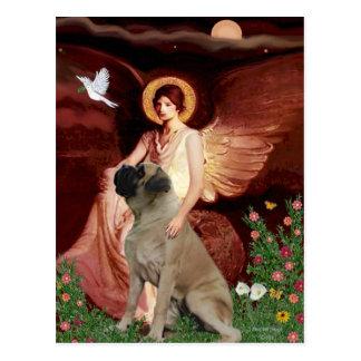 Seated Angel - Bull Mastiff #1 Postcard