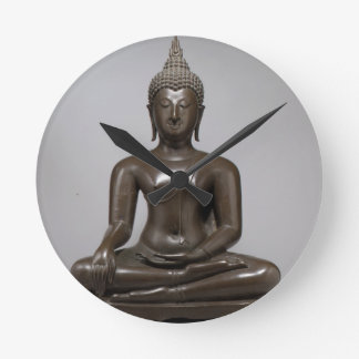Seated Buddha - 15th century Round Clock