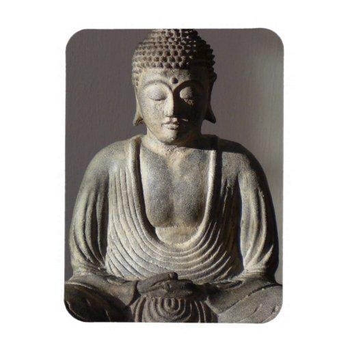 Seated Buddha Rectangular Magnet