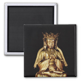 Seated Buddha Square Magnet