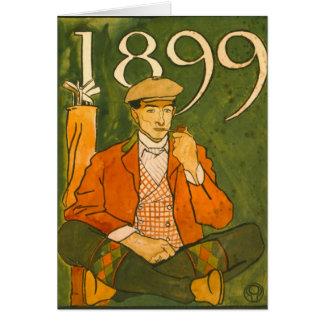 Seated Golfer 1899 Card