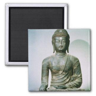 Seated Sakyamuni Buddha from Ch'ungung-ni (iron) Square Magnet