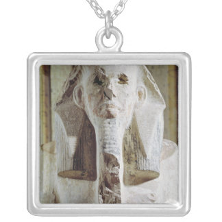 Seated statue of King Djoser Silver Plated Necklace