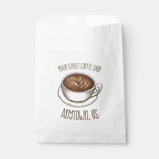 Seattle Coffee Cup Latte Barista Coffee House Shop Favour Bags