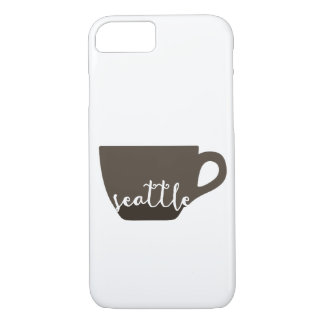 Seattle coffee mug illustration iPhone 8/7 case