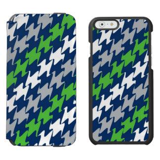 Seattle Football Blue Green Team Sports Colors Incipio Watson™ iPhone 6 Wallet Case