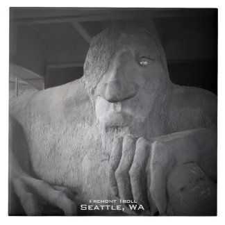 Seattle Fremont Troll Photo Tile