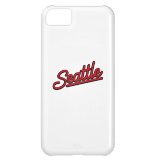 Seattle neon in red iPhone 5C case