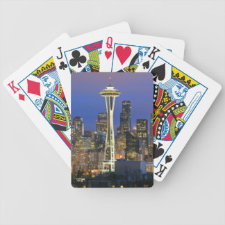 Seattle seen from Kerry Park in Queen Anne Bicycle Playing Cards