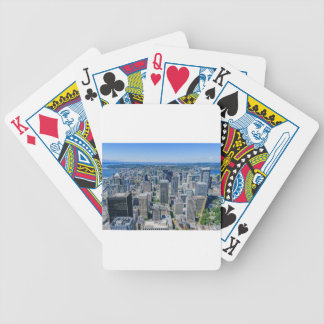 Seattle Skyline Aerial Bicycle Playing Cards