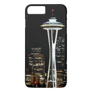 Seattle skyline at night, with Space Needle iPhone 8 Plus/7 Plus Case