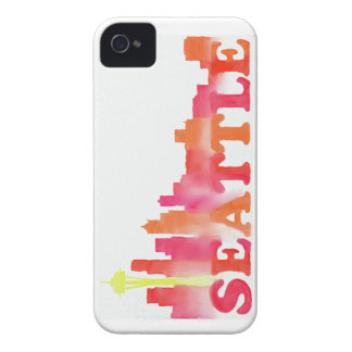 Seattle skyline warm iPhone 4 cover