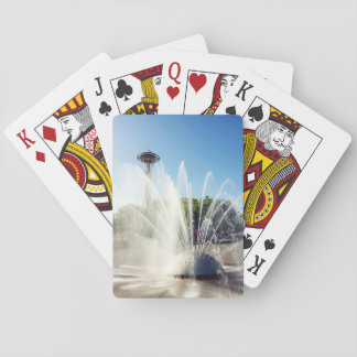 Seattle Space Needle and Fountain Playing Cards