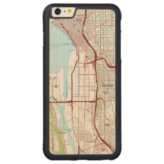 Seattle Topographic City Map Carved Maple iPhone 6 Plus Bumper Case
