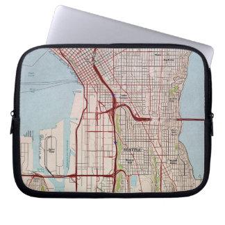 Seattle Topographic City Map Laptop Sleeve