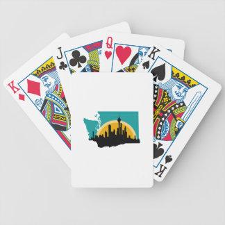 Seattle Washington Bicycle Playing Cards