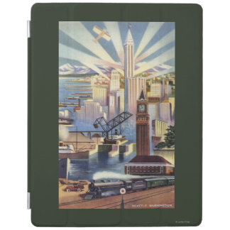 Seattle, Washington - View of Downtown iPad Cover