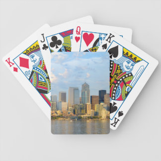 Seattle Waterfront Bicycle Playing Cards