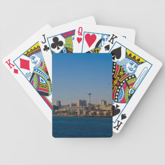 Seattle Waterfront/SpaceNeedle Bicycle Playing Cards