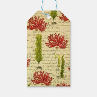 Seaweed and chorales gift tags