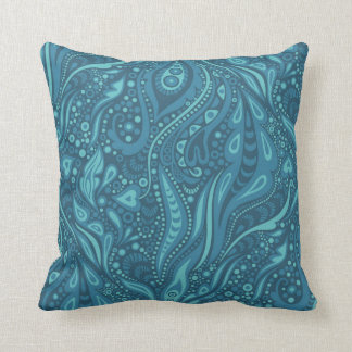Seaweed. Decorative Floral Pattern Throw Pillow